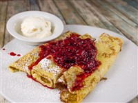 Raspberry Crepes at The Original Pancake House  , Bethesda