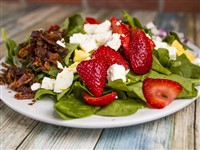 Strawberry Bacon Spinach Salad at The Original Pancake House  , Bethesda