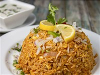 Egg Biryani at Lemon Cuisine of India, Washington
