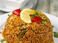 Lamb Biryani at Lemon Cuisine of India, Washington