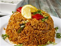 Goat Biryani at Lemon Cuisine of India, Washington