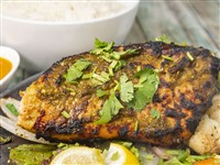 Garlic Herb Salmon at Lemon Cuisine of India, Washington