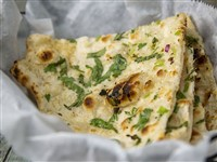 Garlic Naan at Lemon Cuisine of India, Washington