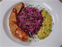 Wild Boar Sausage at Russia House Restaurant & Lounge, Washington
