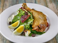 Duck Leg Salad at Russia House Restaurant & Lounge, Washington