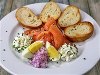 Salmon Gravlax at Russia House Restaurant & Lounge, Washington