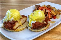 Fried Chicken Benedict at Magnolia Kitchen & Bar, Washington