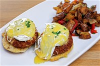 Crabcake Benedict at Magnolia Kitchen & Bar, Washington