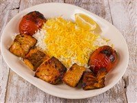 Fish (Salmon) Kabob at Caspian House of Kabob, Gaithersburg