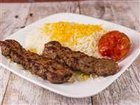 Kubideh Kabob With Rice at Caspian House of Kabob, Gaithersburg