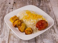 Chicken Kabob With Rice at Caspian House of Kabob, Gaithersburg
