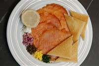 House Smoked Norwegian Salmon at La Ferme Restaurant, Chevy Chase